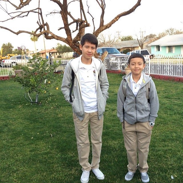Pedro and Jorge, now ages 17 and 15